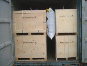 coussin de calage pour transport de marchandises