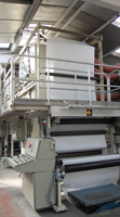 Machine voor coating op papier of karton